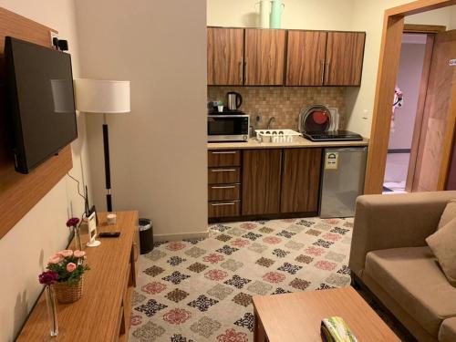 A cozinha ou cozinha compacta de Altelal Apartment