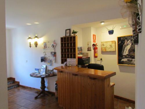 El vestíbulo o zona de recepción de Hotel Las Nieves