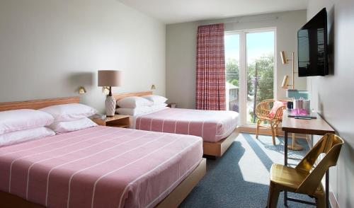 Krevet ili kreveti u jedinici u okviru objekta East Austin Hotel