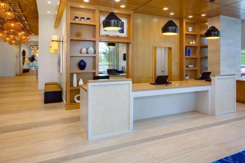 The lobby or reception area at Hyatt House across from Universal Orlando Resort