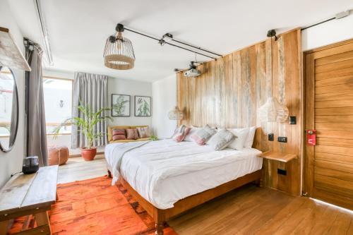 Cama o camas de una habitación en Selina Arequipa