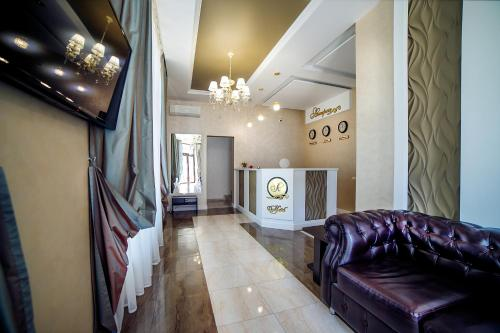 The lobby or reception area at Guest House Asteria