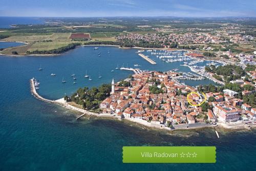 A bird's-eye view of Villa Radovan