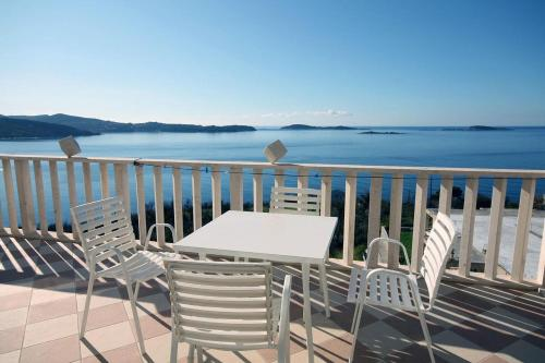 A balcony or terrace at Apartments with a swimming pool Soline, Dubrovnik - 4762