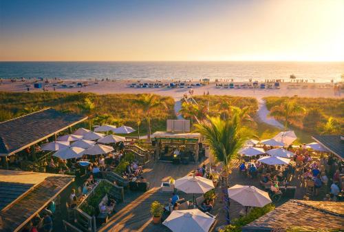 A bird's-eye view of The Beachcomber St. Pete Beach Resort & Hotel