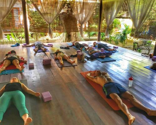Guests staying at The Yoga Garden