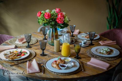 Breakfast options available to guests at Boutique Hotel Promenade