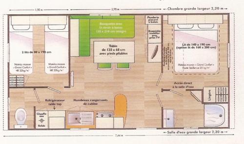 Plan de l'établissement Team Holiday - Camping Le Balcon de Chartreuse