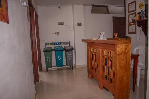 A kitchen or kitchenette at Hotel San Agustín