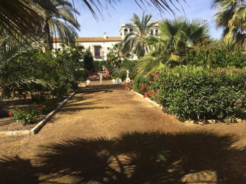 A garden outside Hacienda Los Jinetes