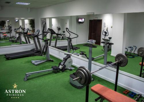 The fitness center and/or fitness facilities at Hotel Astron Princess