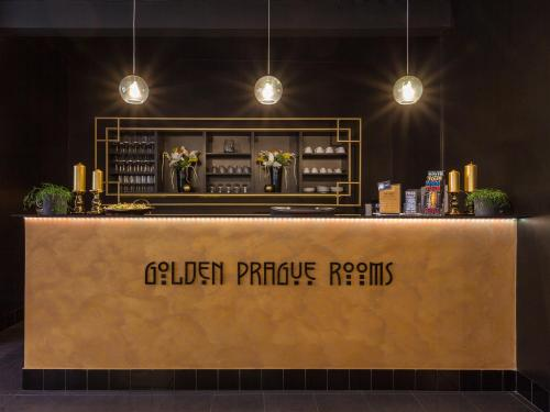 The lounge or bar area at Golden Prague Rooms