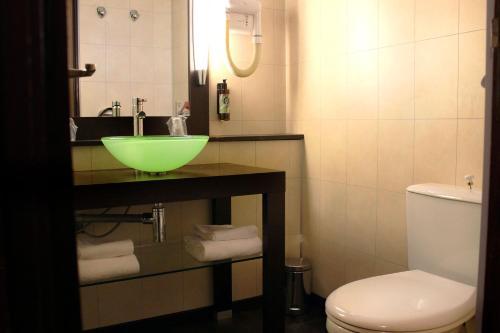 A bathroom at Castel Vecchio