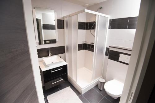 Een badkamer bij B&B Groot Pepersgoed