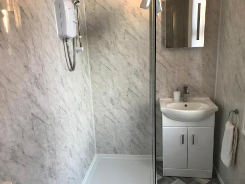 A bathroom at Lexham Hotel
