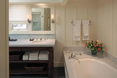 A bathroom at Meadowood Napa Valley
