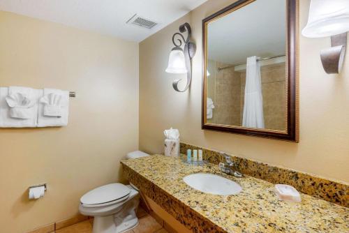 A bathroom at Clarion Inn Ormond Beach at Destination Daytona