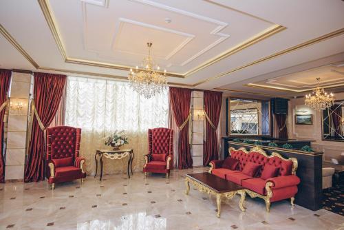 Гостиная зона в Гостиница Барнаул