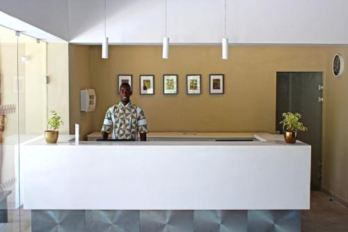 The lobby or reception area at Sunset Beach Hotel