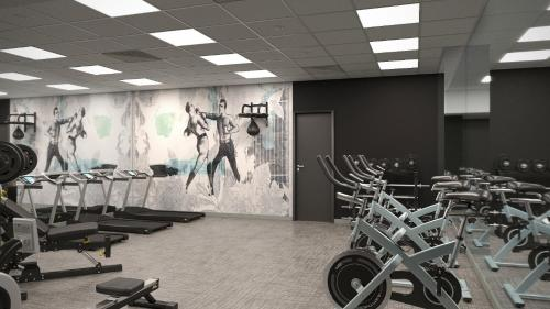 The fitness center and/or fitness facilities at Barceló Budapest