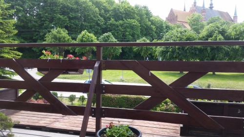 Balkon lub taras w obiekcie Hotel Kopernik