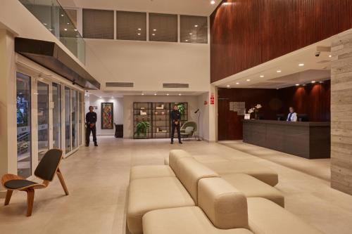 The lobby or reception area at Flix Hotel