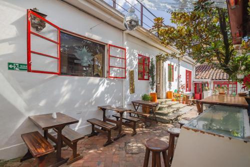 Restaurant ou autre lieu de restauration dans l'établissement Botanico Hostel