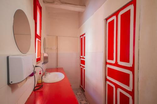 Salle de bains dans l'établissement Botanico Hostel