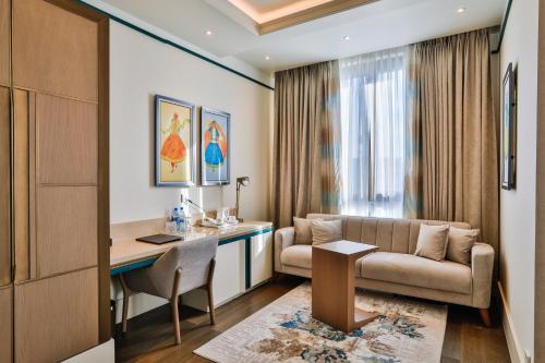 Uma área de estar em Dreamland Golf Hotel Baku