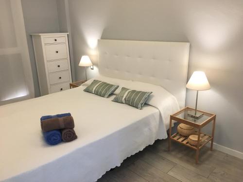Cama o camas de una habitación en Apartamento Ideal