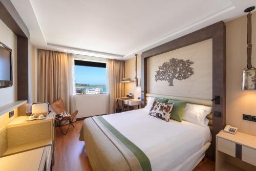 Cama o camas de una habitación en Santemar