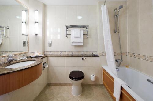 A bathroom at The Bull