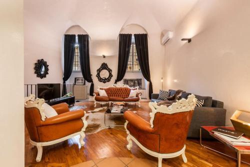 Area soggiorno di Luxury Loft Dante House