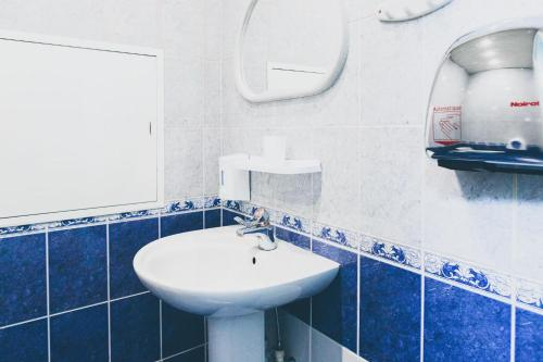 A bathroom at Enisey Hostel