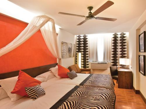Cama o camas de una habitación en Magic Aqua Rock Gardens