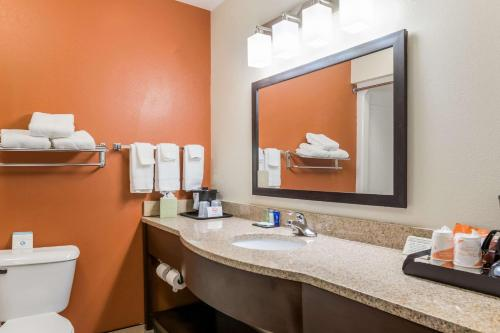 A bathroom at Sleep Inn North Liberty/Coralville