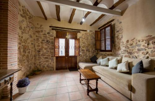 A seating area at Casa Rural Pradas