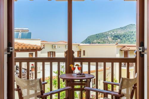 A balcony or terrace at Aeolos Hotel