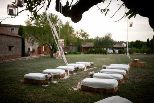 Jardín al aire libre en Mas Falgarona Hotel Boutique & SPA