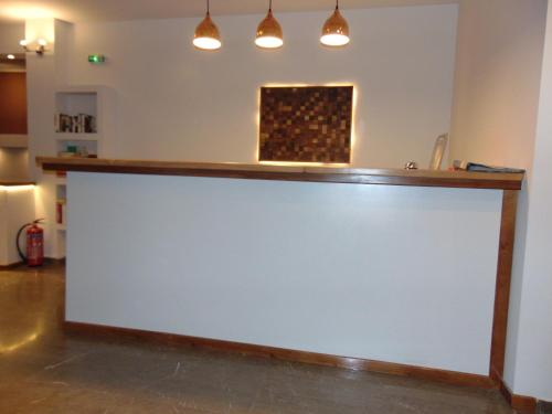 The lobby or reception area at Polyxeni Hotel
