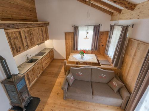 A seating area at Chalet Piz da Peres