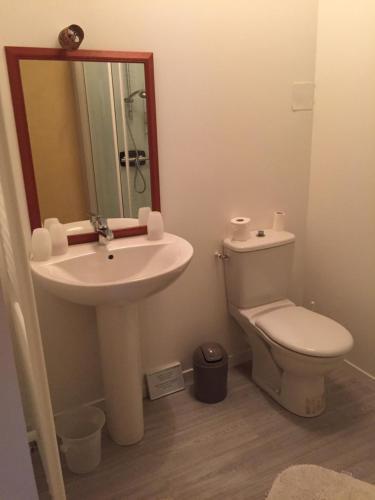 Salle de bains dans l'établissement La Vieille Foulonnière : Chambres d'hôtes & Permaculture