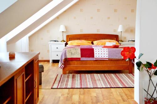 Postel nebo postele na pokoji v ubytování Penzion Daniela