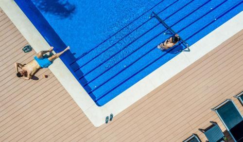 Výhled na bazén z ubytování Isla Mallorca & Spa nebo okolí