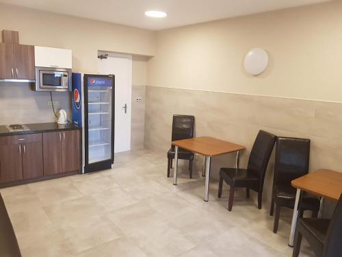 Kuchyň nebo kuchyňský kout v ubytování Penzion Hudebka