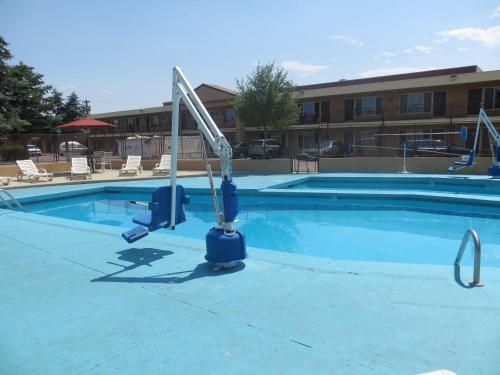 The swimming pool at or close to TravelStar Inn & Suites
