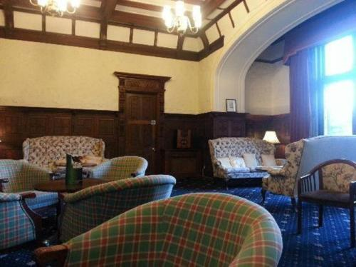 A seating area at Adamton Country House Hotel