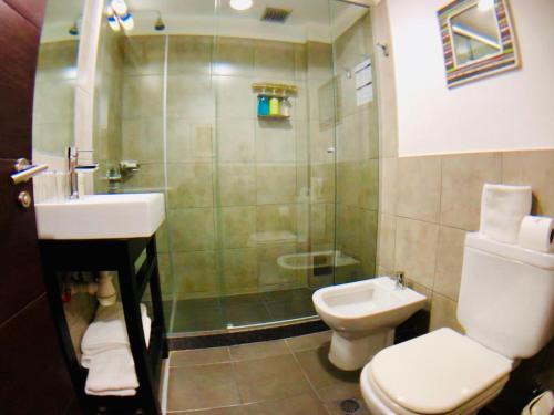 A bathroom at Posada Boutique Las Terrazas