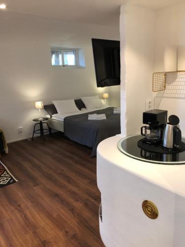 TV tai viihdekeskus majoituspaikassa Stava Mosters