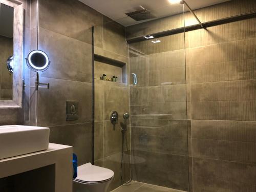 A bathroom at Mirtilos Studios & Apartments